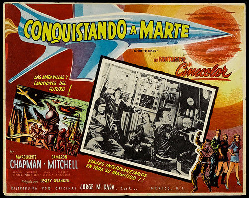 Flight to Mars (Monogram, 1951). Mexican Lobby Card (12.5