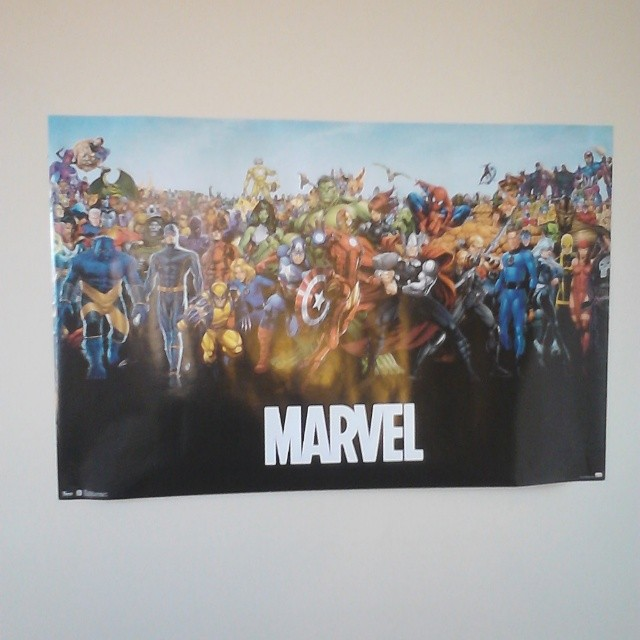 My new Marvel lineup poster. #MarvelGifts