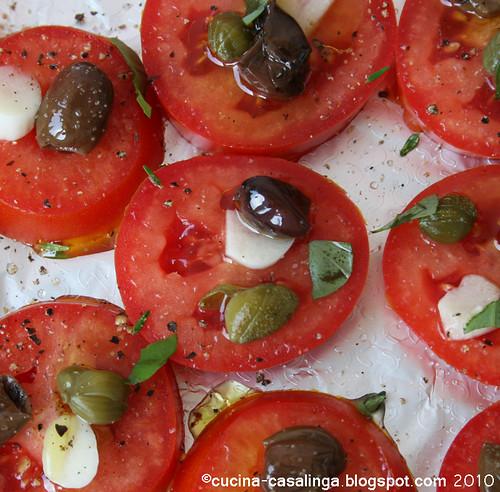 Tomaten Blech nah