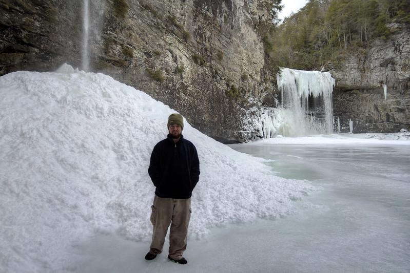 Rockhouse Falls frozen detail, Chuck Sutherland, Fall Creek Falls State Park, Van Buren County, Tennessee