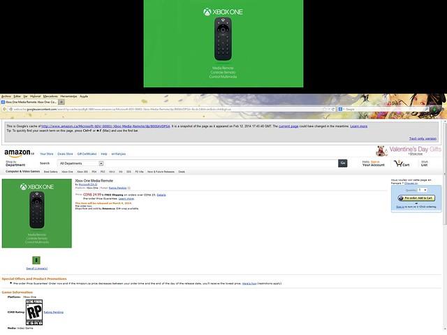 Xbox One Media Remote Control