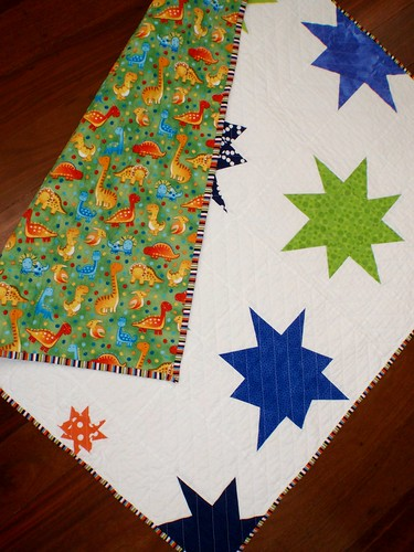 A Star is Born quilt - back and binding