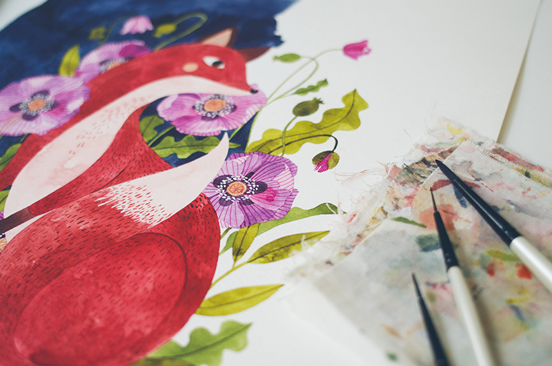 fox + flora. work in progress.