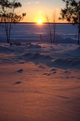Sunset Big Sandy Camp McGregor Minnesota 2014