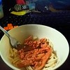 My spicy tuna pasta for dinner #pasta