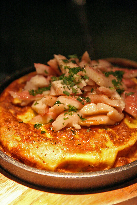 Spanish Tortilla with Smoked Eel - with duck fat crisped potatoes!