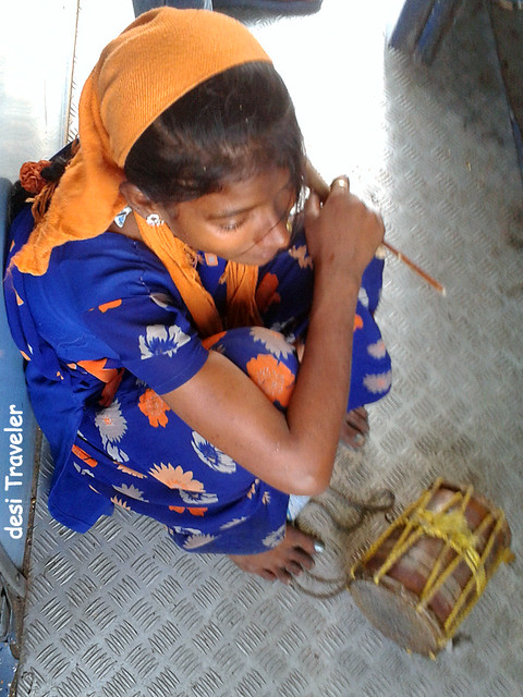 banjara girl with small drum dhol