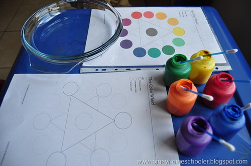 Color Wheel Work (Photo fromThe Pinay Homeschooler)