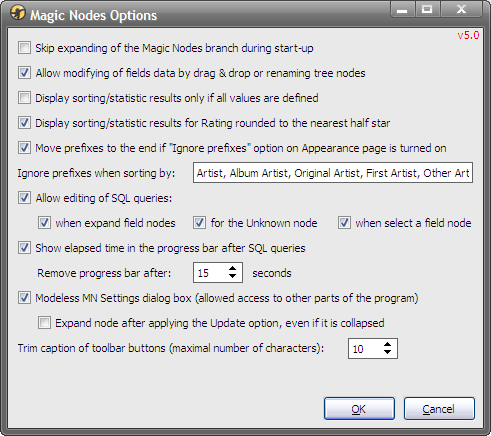 MagicNodes-5.0 - Options