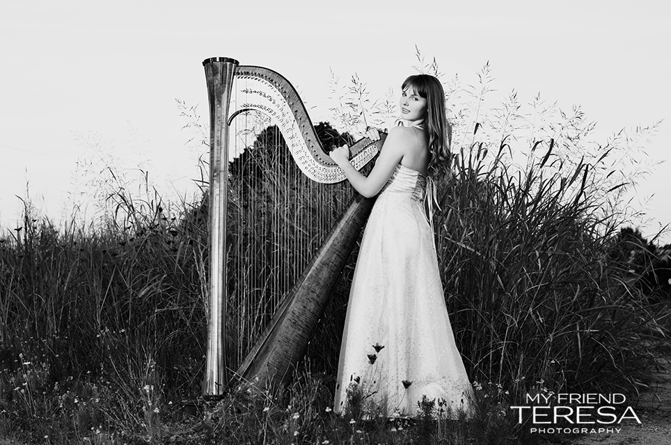 cary academy senior portrait, my friend teresa photography, harp senior portrait