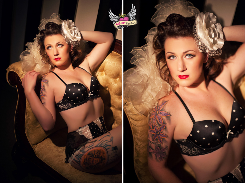 Tattoo pinup photography Florida boudoir pin-up studio