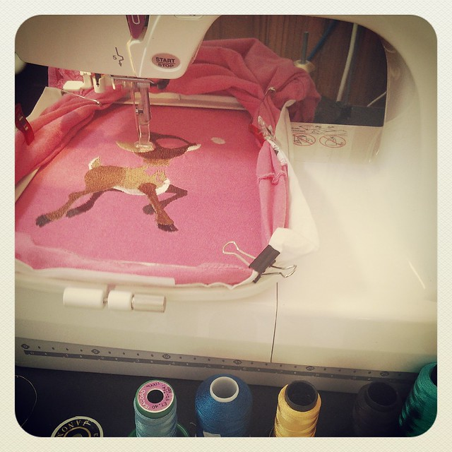 Stitching out the Deer