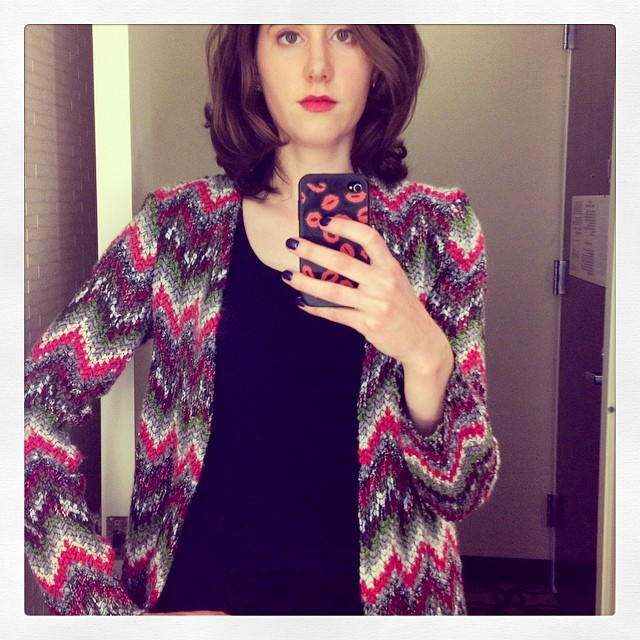 Wearing Missoni for Mexican food! #sewing #handmade #diy #imadethis #bloggers #meetup #nyc