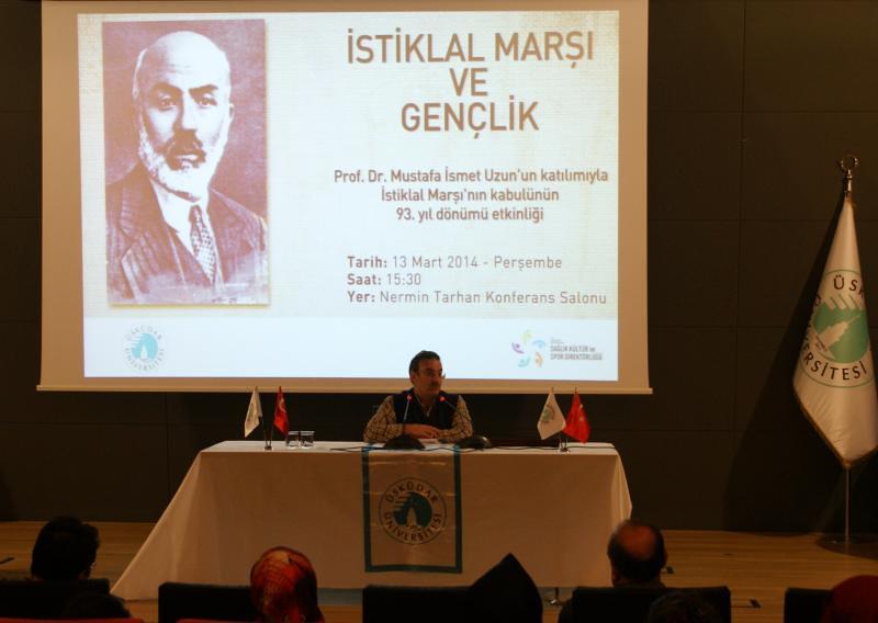 Üsküdar Üniversitesi 93. Yıl Dönümünde İstiklal Marşı'nı ve Akif'i konuştu