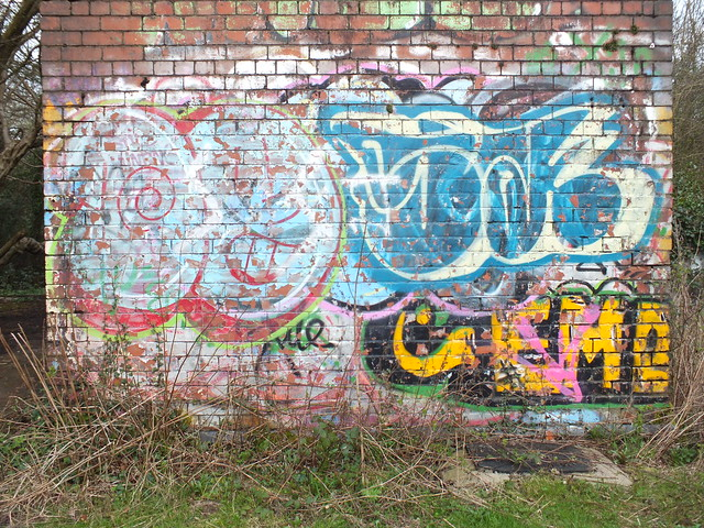Graffiti on Sub station, Ely Racecourse.
