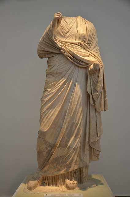Statue of Faustina the Younger, from the Nymphaeum of Herodes Atticus at Olympia, dating from between 149 and 153 AD (posthumous), Olympia Archaeological Museum, Greece