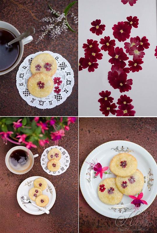 biscotti da tè ai  fiori eduli