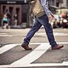 Walking coffee in New York