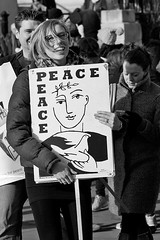 Peace, Campaign for Nuclear Disarmament (CND), Trafalgar Square, London, 24 January 2015