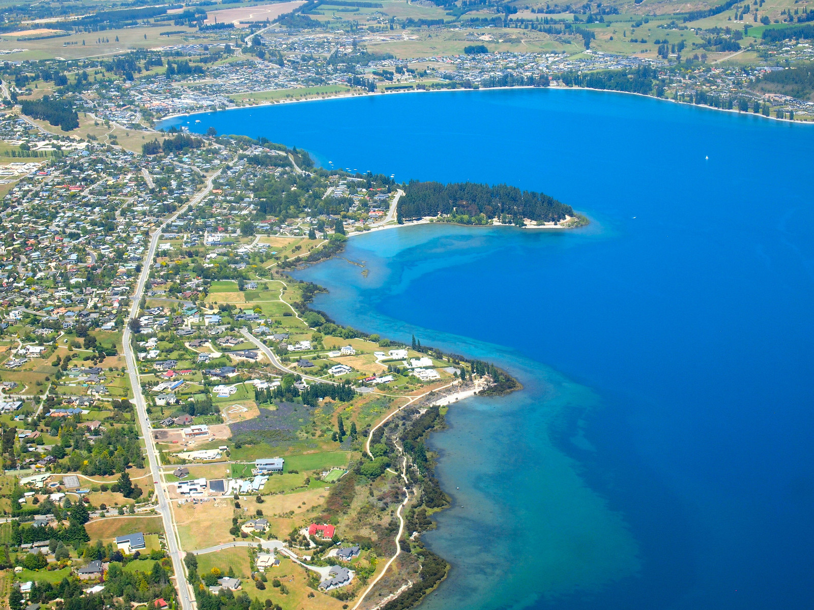 Lake Wanaka from above