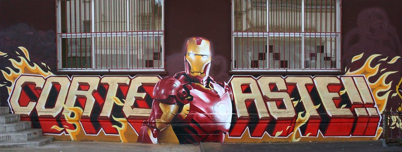 IRON-MAN wall 2005 corte aste