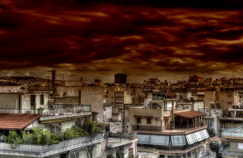 sky brown colours view greece terror piraeus ελλάδα καφέ χρώματα θέα ουρανόσ πειραιασ τρόμοσ