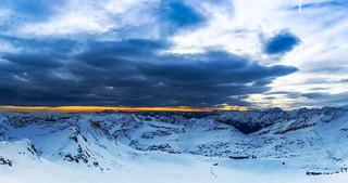 Robert Emmerich - 10 PAN Sunset on top of a Glacier in the Alps - Möllertalgletscher in Kärnten - Austria