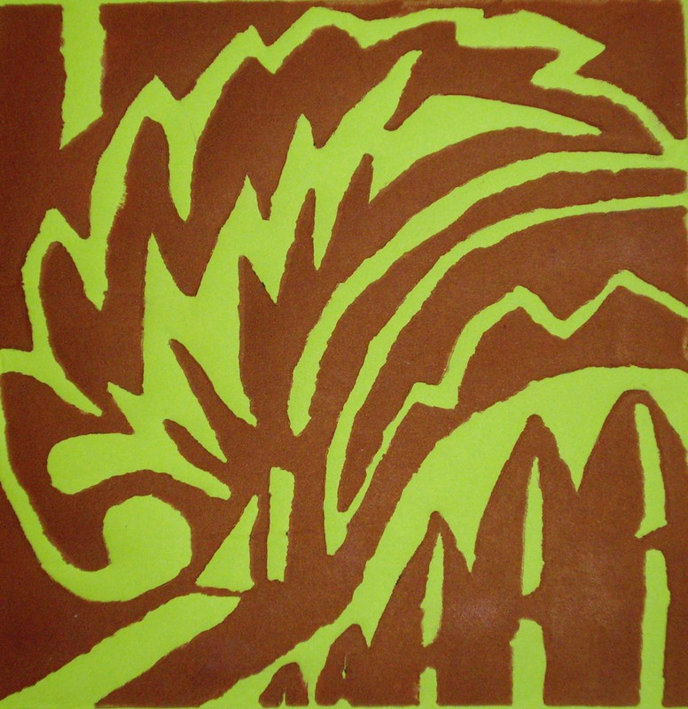 Linocut abstract