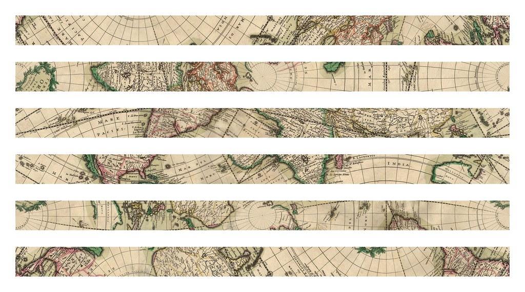 Sepak Takraw from Schagen's World Map (1689) Strips