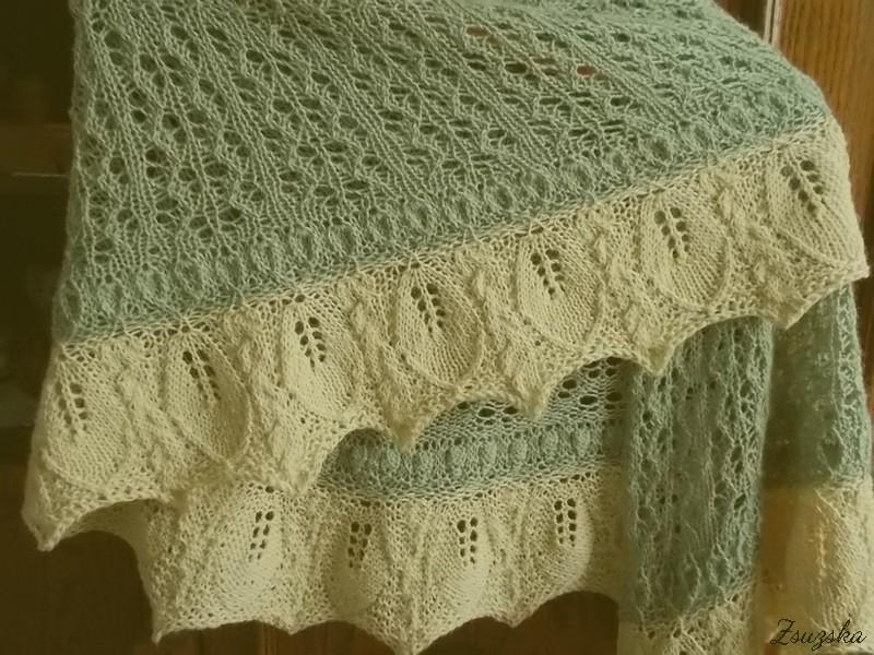 Vanilla Orchid, knitting, shawl, (3).
