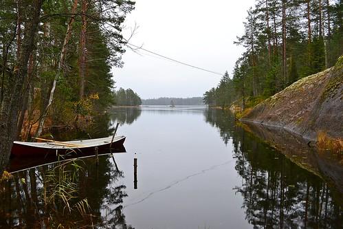 autumn lake nature espoo finland geotagged october u fin uusimaa lookaround nyland 2011 esbo ruuhijärvi 201110 20111030 lakesofnuuksio geo:lat=6031482500 geo:lon=2455723300