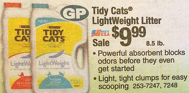 graphic relating to Menard Printable Coupons referred to as Tidy Cats Light-weight Muddle $6.99 at Menards with Printable
