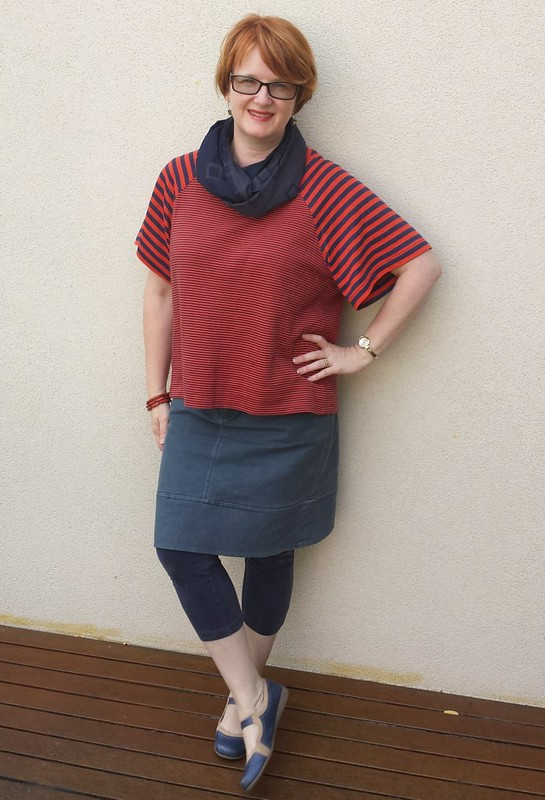 Pattern Fantastique Aeolian tee in knit from Clear It