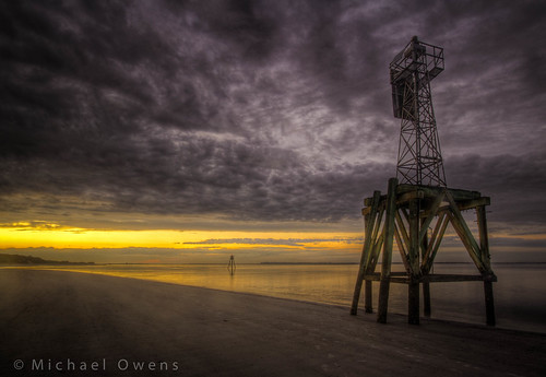 sunset clouds georgia island coast florida grunge barrier amelia shipping beacon navigation hdr cumberland channel stateline nationalseashore stmarysriver