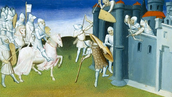 Siege and Capture of Jerusalem on 15th century miniature