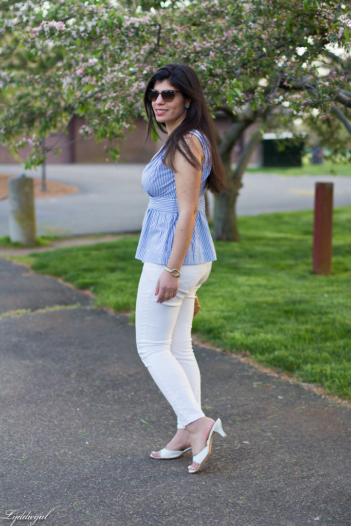 striped peplum top, white jeans, straw clutch-10.jpg