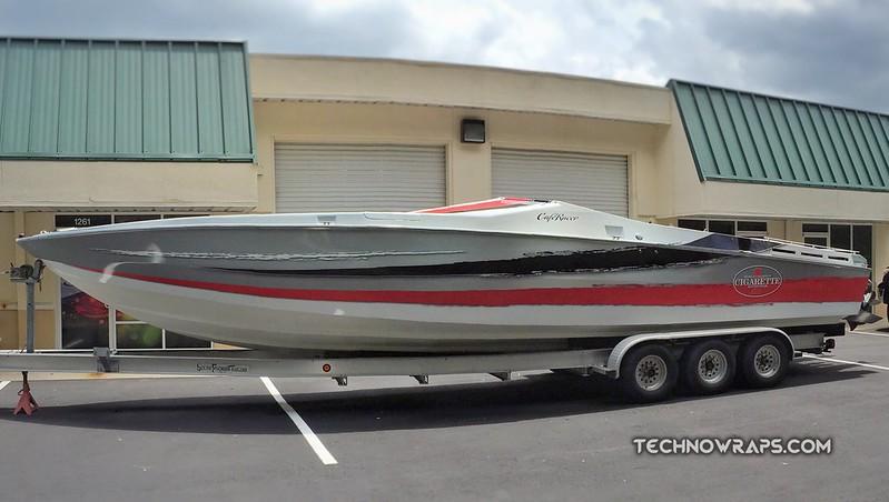 Orlando vinyl boat wrap