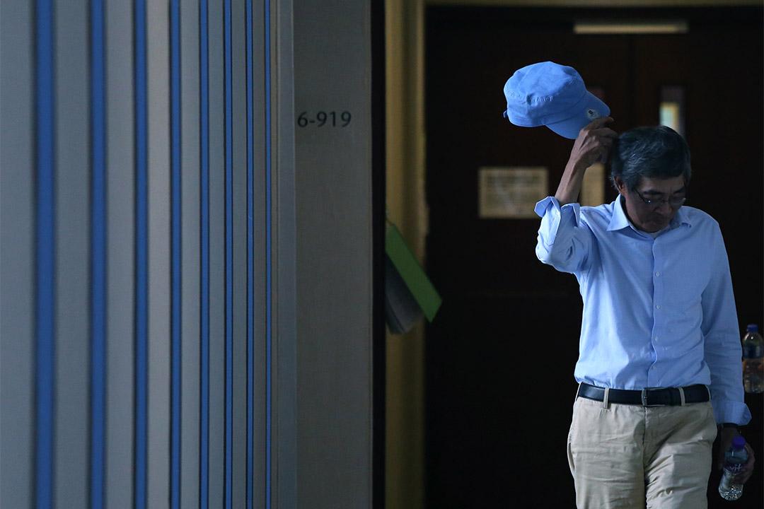 林榮基在立法會見記者,他拒絕回應李波及胡姓女朋友質疑他說謊,又說對香港有信心,不擔心安全,至今並沒有後悔公開事件。