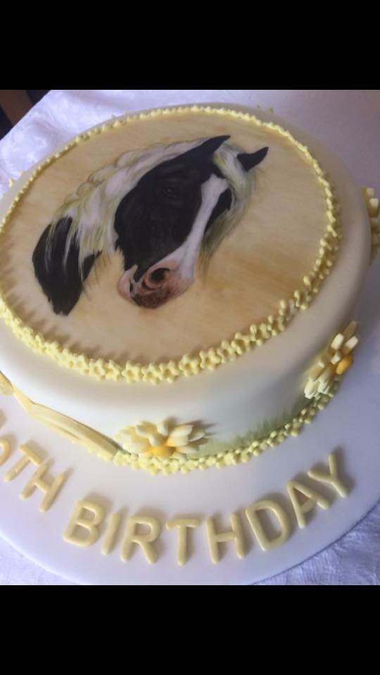 Hand Painted Birthday Cake by Perin's Occasional Cakes