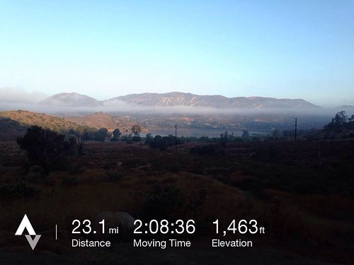 Quick loop around lake Hodges this morning. While typically busy, it's not between 0530 and 0740.