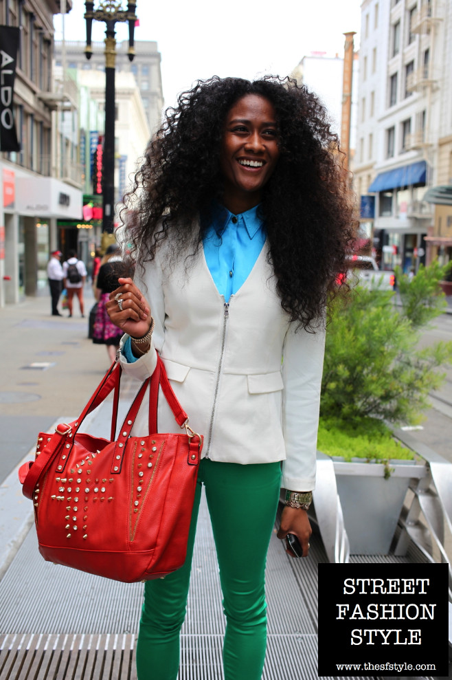 san francisco fashion blog, thesfstyle, SFStyle, street fasion style, big hair, bright colors, spring fashion,