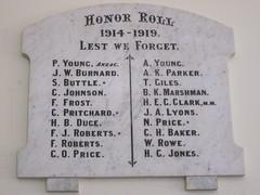 Long Plains WW1 Honor Roll