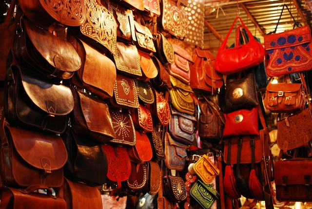 Leather goods in the souk