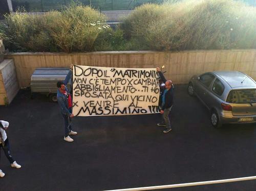 Catania, festa di nozze questa sera in Curva Nord per Angelo e Giovanna$