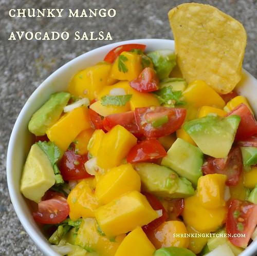 chunky mango avocado salsa