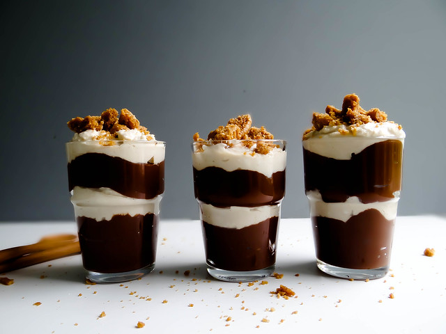 pb + chocolate pudding parfaits