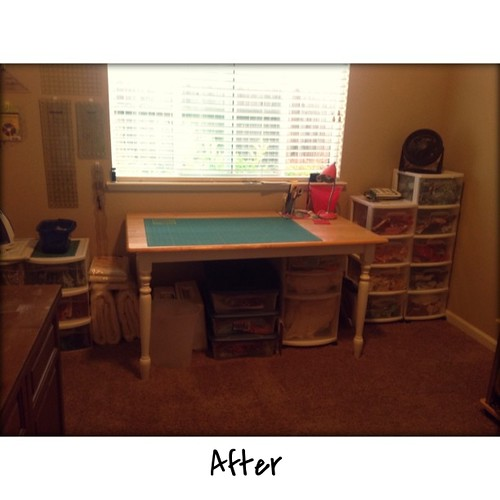 Clean at last. Now time to getting my sewing room messy with a new project.