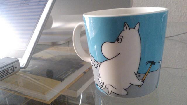 Una taza de los Moomins