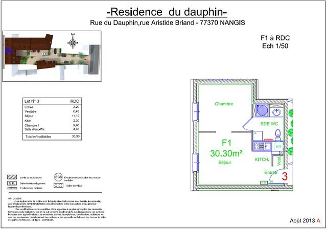 Résidence du Dauphin - Plan de vente - Lot n°3