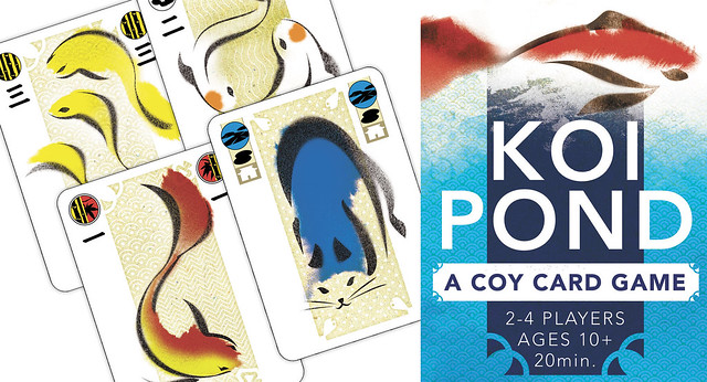Daniel solis where to buy koi pond at gen con booth 1201 for Fish pond game